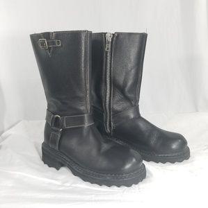 "JOHN FLUEVOG ""F Boot"" Black Leather   Sz UK4 US6"